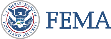 department of homeland security logo with eagle and the words FEMA for the fema logo