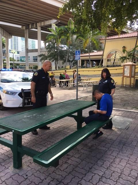 City of Miami Police working with project SEARCH students.