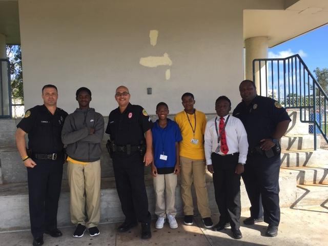 Training at Northwestern High School with City of Miami Police Officers.