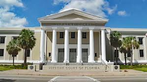 picture of the florida supreme court building looking forward at the front of the building