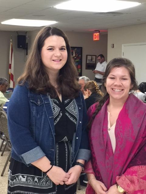interns Kelly and Miriam at a voter registration event.