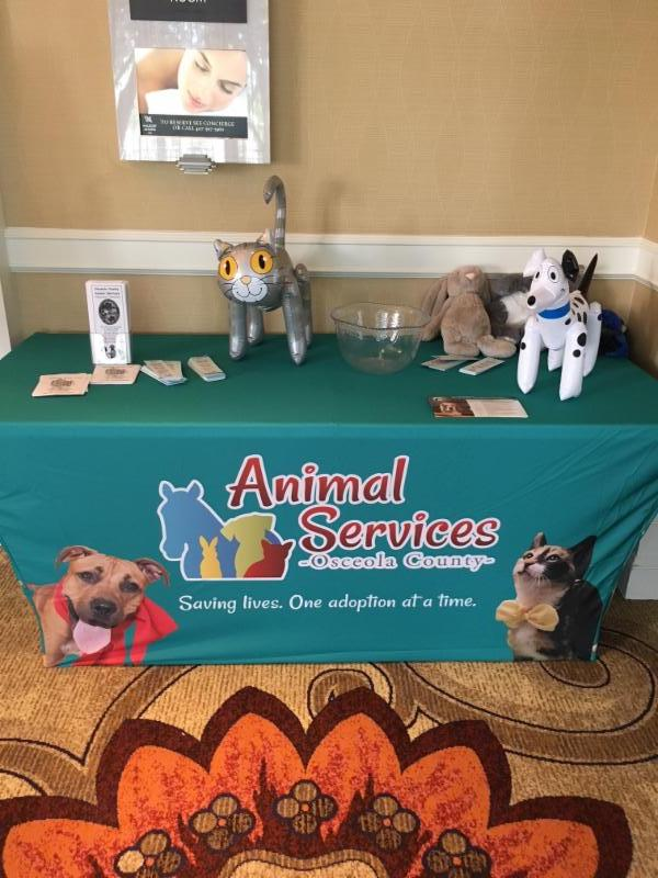 Animal Services table from The Puppy Pit at the Florida Bar