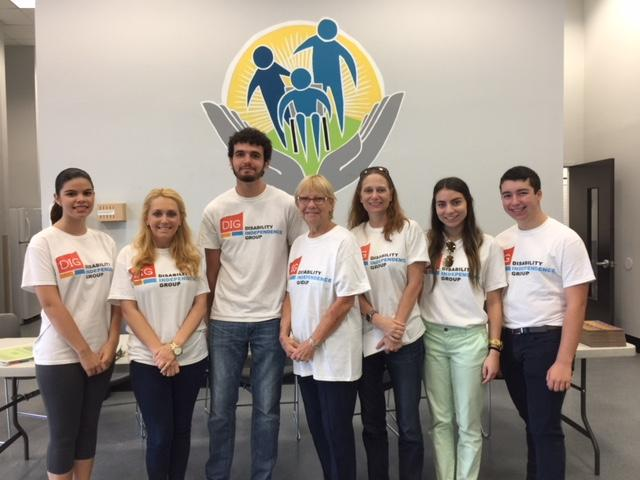 DIG staff and interns at sandra delucca center