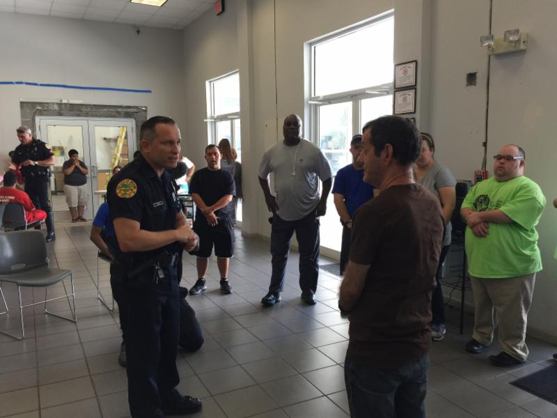 Officer Gilbert Perez at our Wallet Card Training.