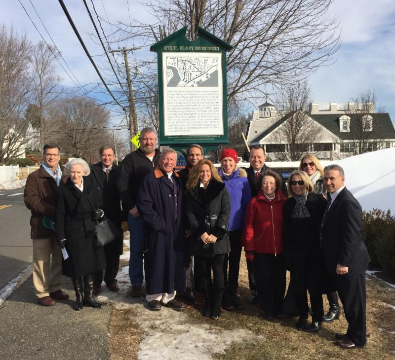 River Rd marker dedication