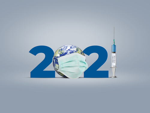 Vaccine for COVID-19 in 2021 is closer to reality. COVID-19 Vaccine. vaccine against coronavirus disease 2019 will be available on 2021. 2021-new year with corona virus vaccine concept.