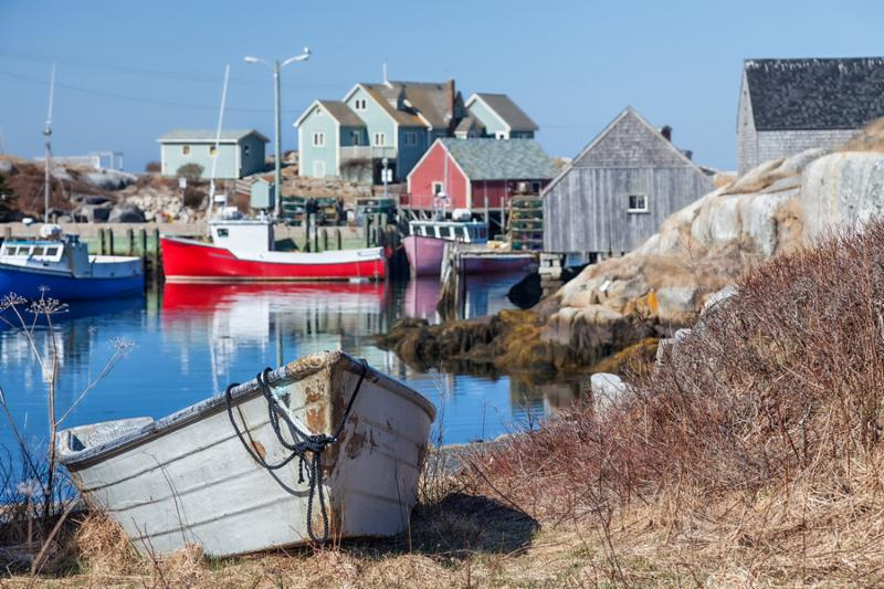 Peggy s Cove, the small village on Nova Scotia s coast.