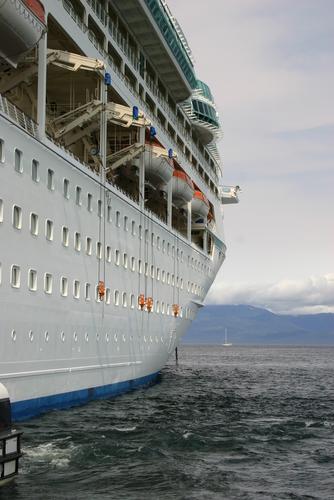 Cruise Ship_ closeup shot