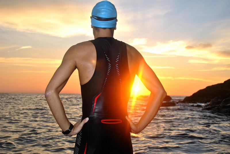 Triathlete at the water