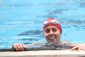 Happy swimmer