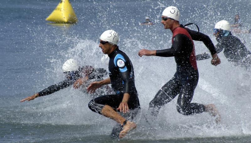 open water, triathlon, swimmers