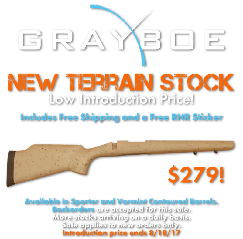 New Grayboe Terrain Introductory Price + Demo Optics Sale
