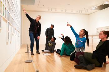 Photo of teachers in a visual art workshop at Frye Art Museum.