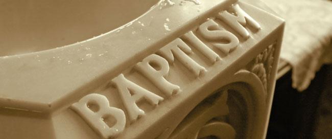 Baptism Carved