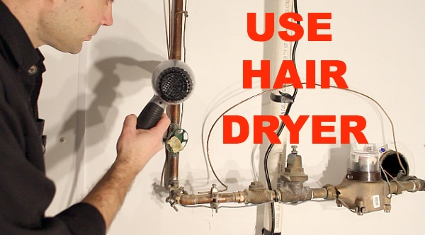 Use a hair dryer