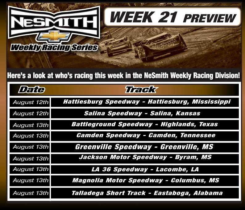 Nesmith Weekly Racing Series Week 21 Preview