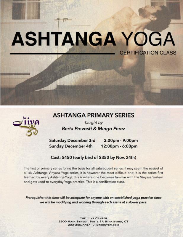 Beginner Ashtanga Yoga Certification Class