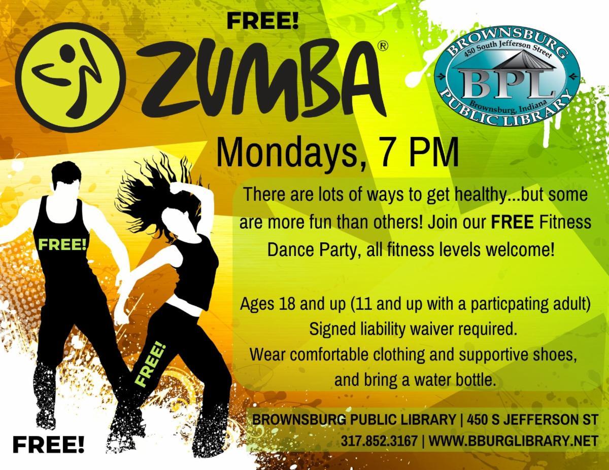 zumba fitness mondays 7 pm free