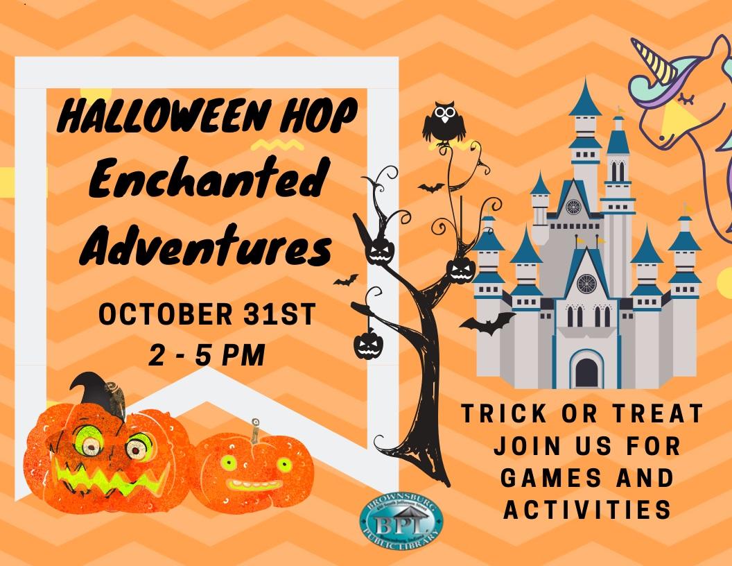 halloween hop thursday october 31 2-5 pm