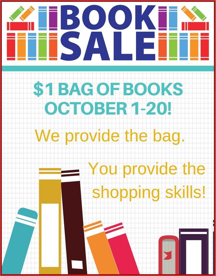 _1 per bag library shop sale october 1-20