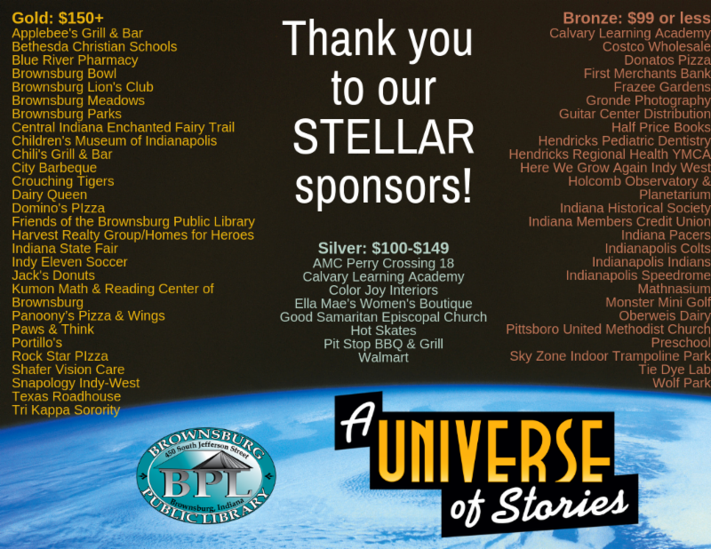 thank you to our stellar sponsors