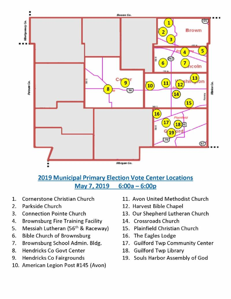 2019 primary election vote center locations