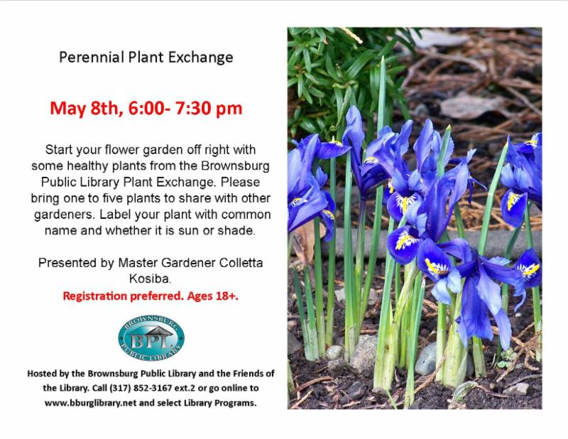 perennial plant exchange may 8 6 pm