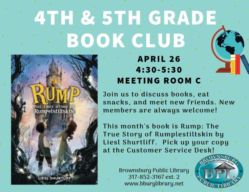 4th and 5th grade book club friday april 26 4_30 pm