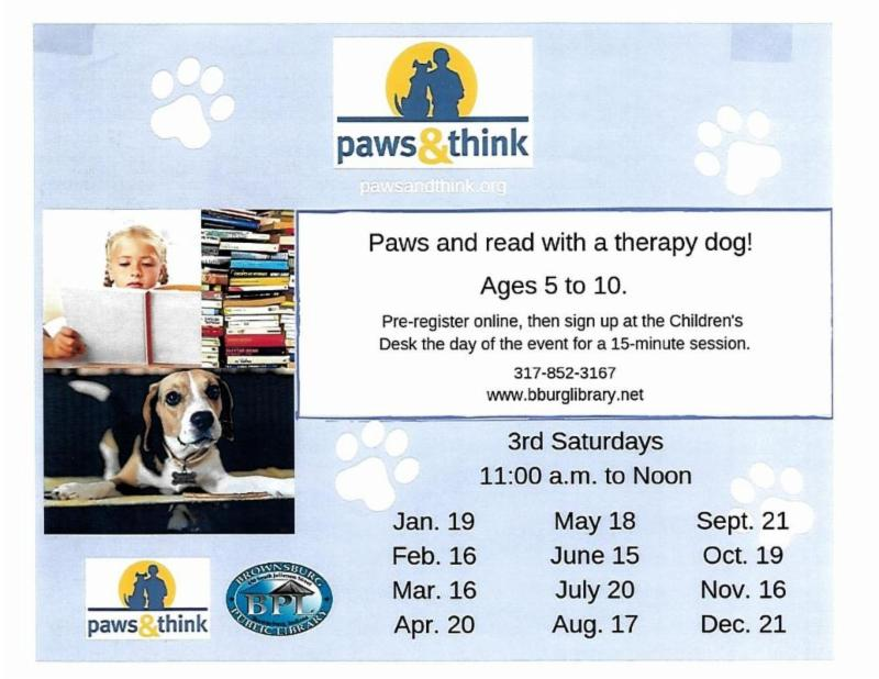 paws and think saturday september 21 11 am
