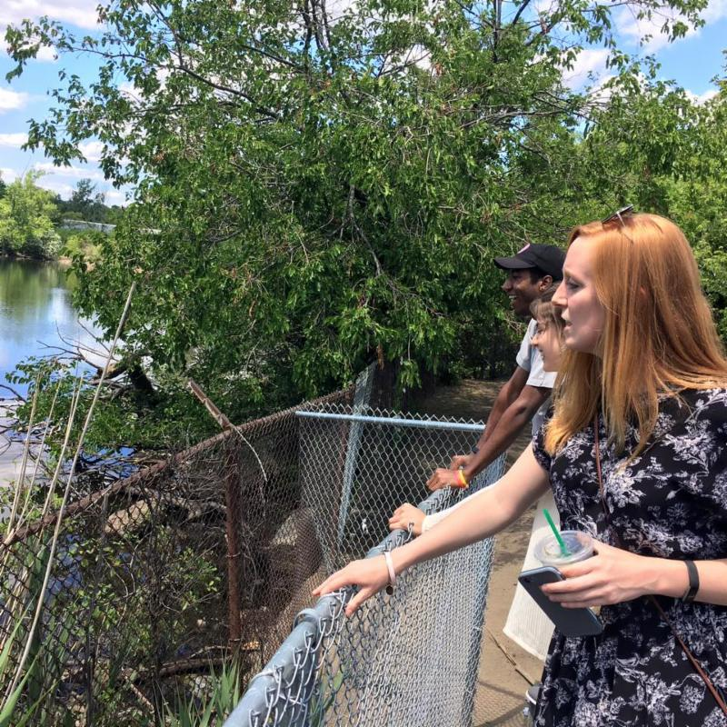 Earthos interns spot an otter