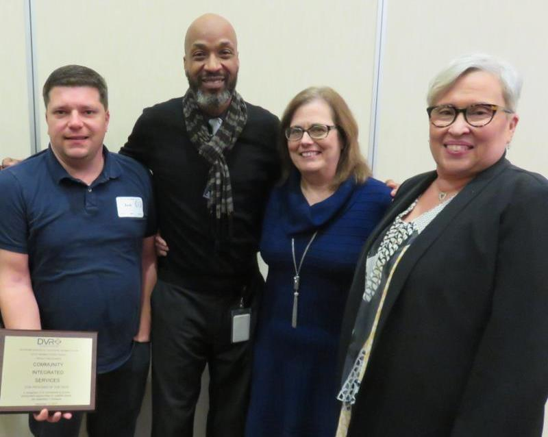 Josh Miller, Community Integrated Services, Stan Mifflin, DVR Georgetown District Administrator, Andrea Guest, DVR Director, and Dr. Patrice Gilliam-Johnson, Secretary of Labor.