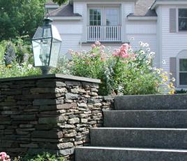 Masonry, steps and pillar