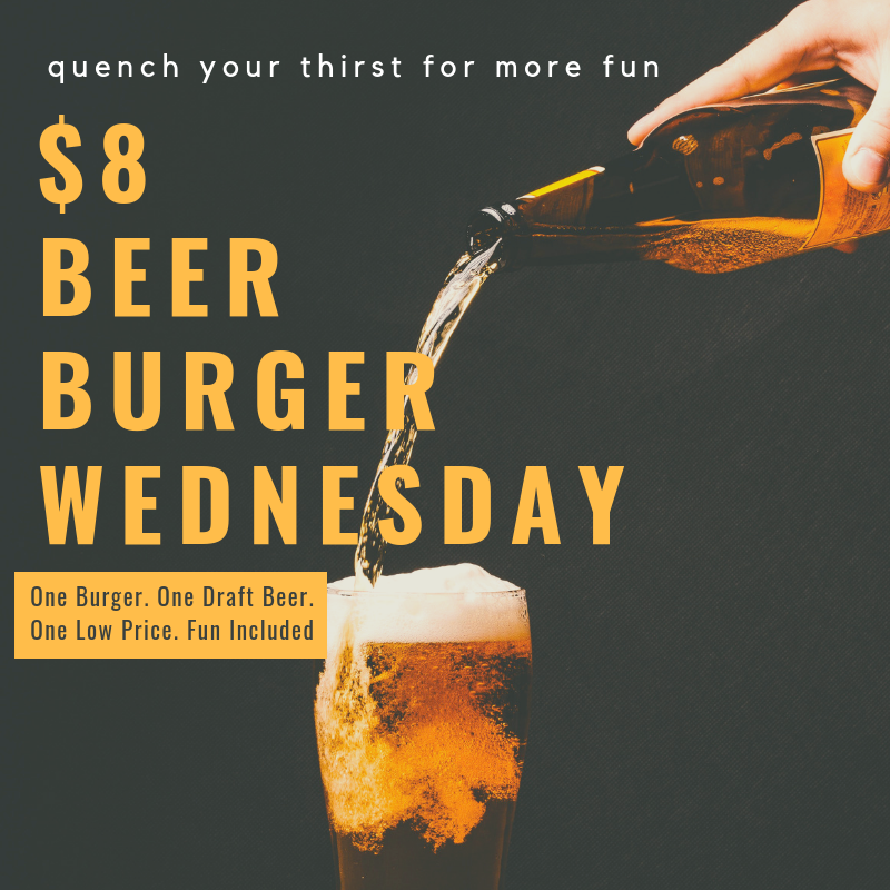 Beer and Burger Happy Hour