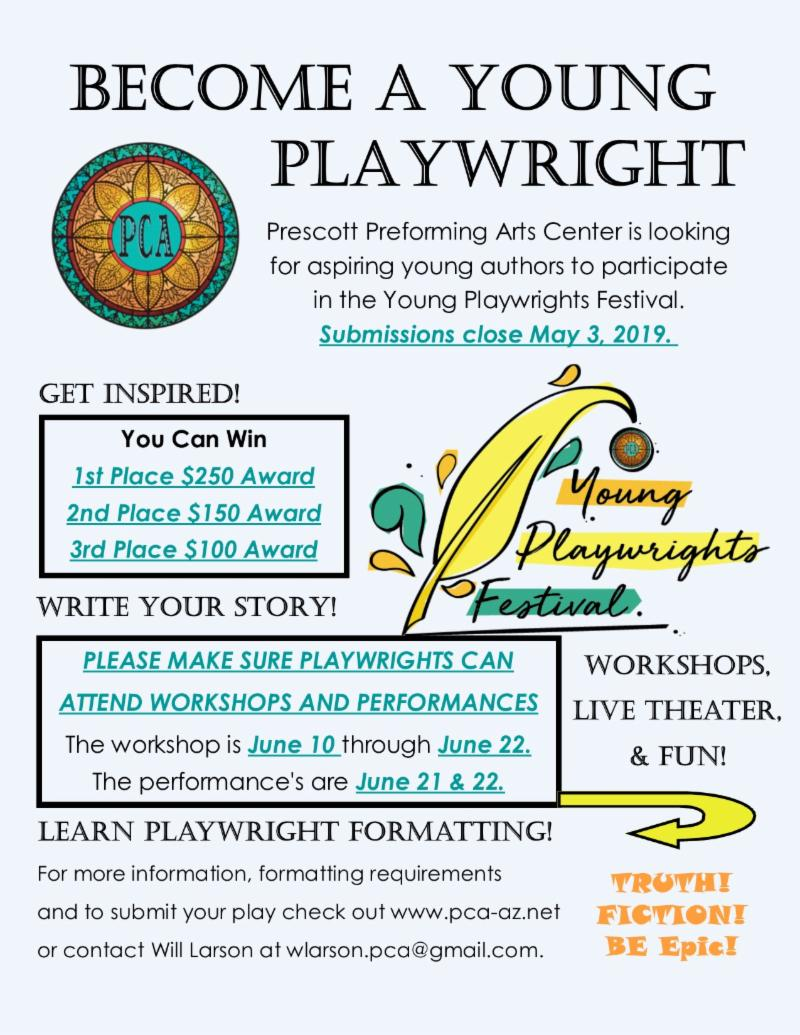 Young Playwrights Festival is OPEN