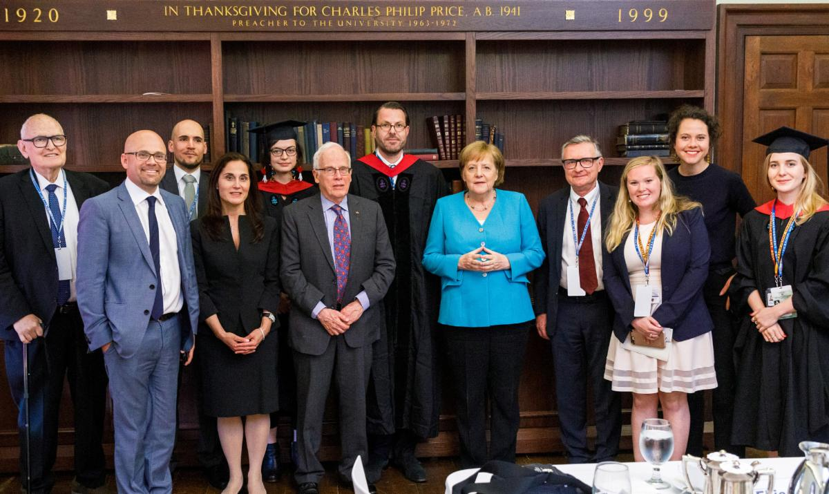Chancellor Merkel with CES