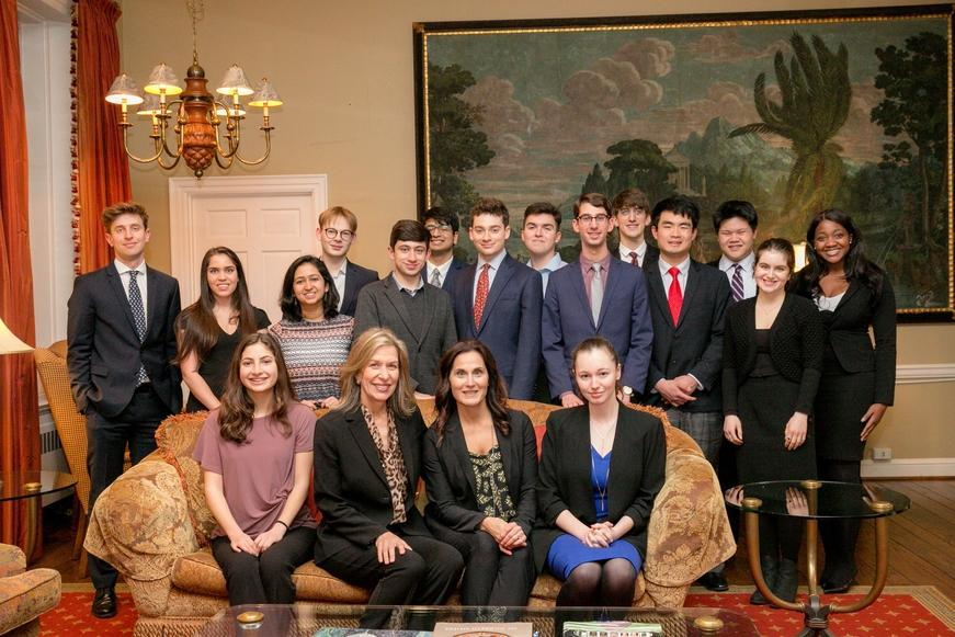 Harvard College Students with Elizabeth-Sherwood Randall and Elaine Papoulias