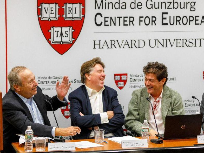 Lawrence Summers, Sir Paul Tucker & Alberto Alesina at CES.