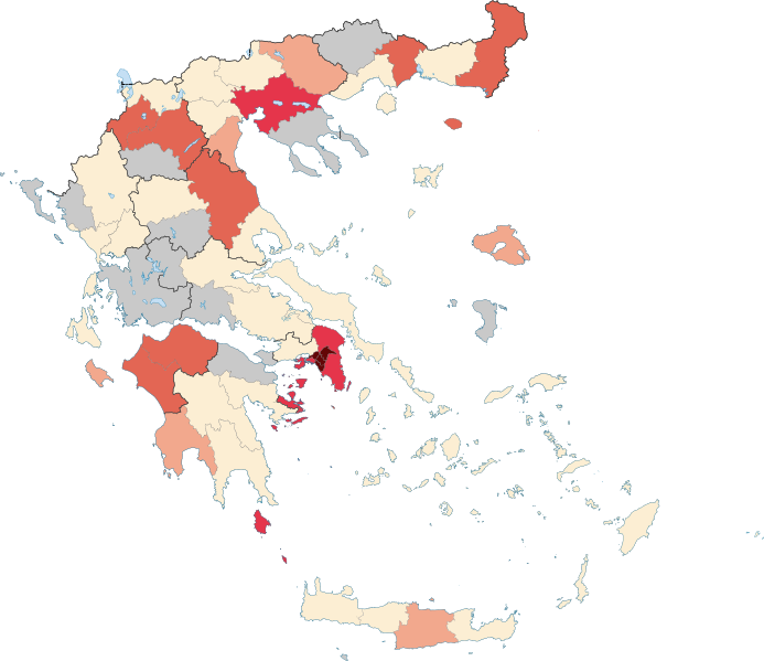 Map of Greece & COVID-19 Outbreak Cases