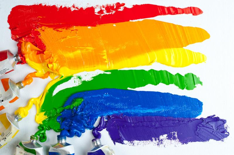 Rainbow Gay Pride Flag isolated on white background