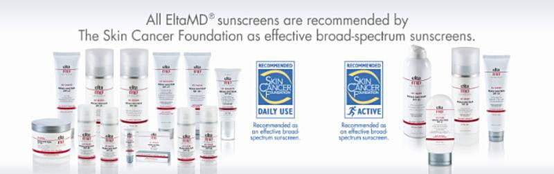 EltaMD Sunscreen Line