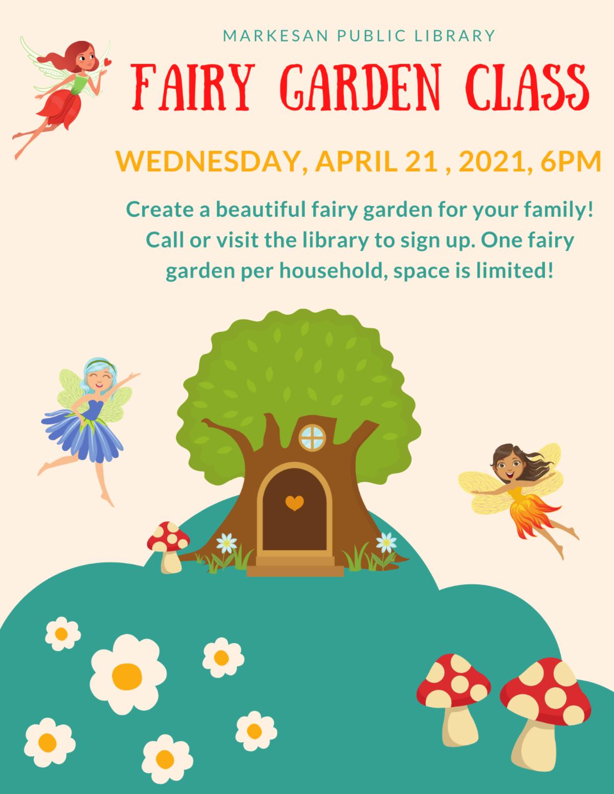 Fairy Garden Class poster April 2021