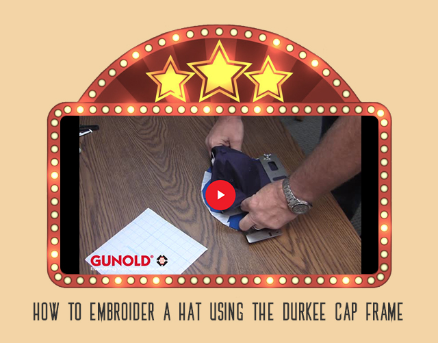 how to embroider a hat unsing the durkee cap frame