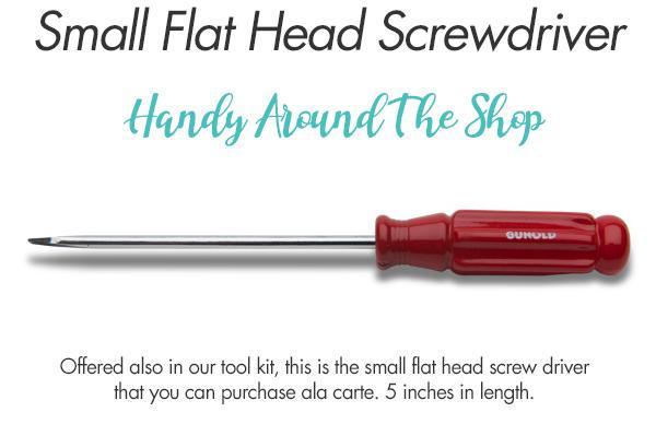 small flat head screwdriver