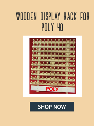 wooden display rack for poly 40