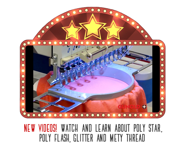 new videos - watch and learn about poly star, poly flash, glitter, and mety thread
