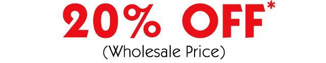20% off wholesale