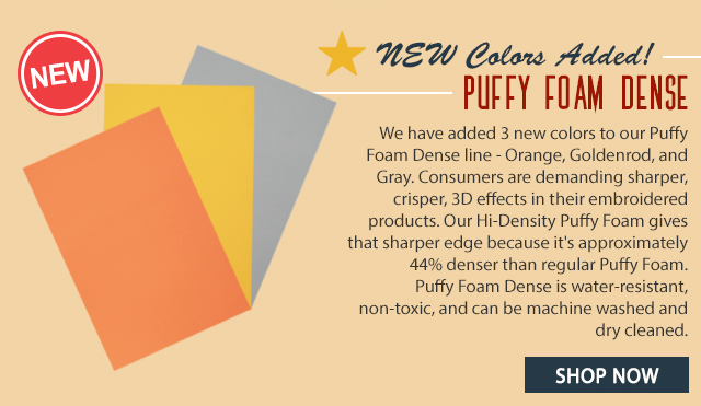 new colors added puffy foam dense