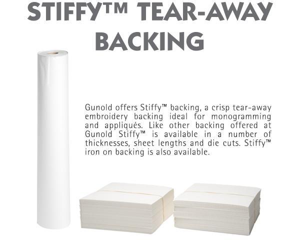 stiffy tear-away backing