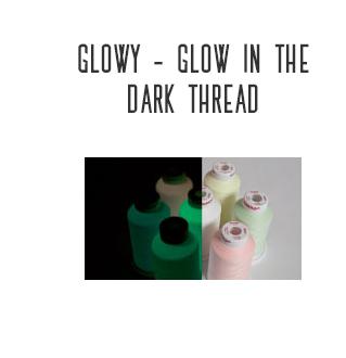 glowy - glow in the dark thread