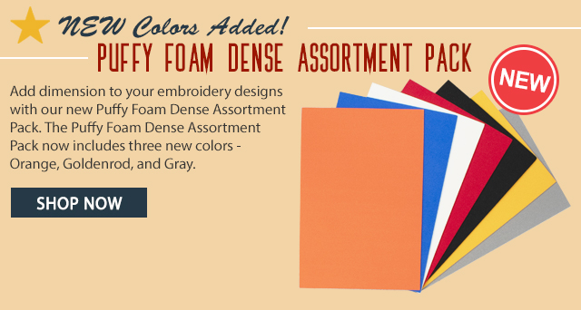 new colors added puffy foam dense assortment pack